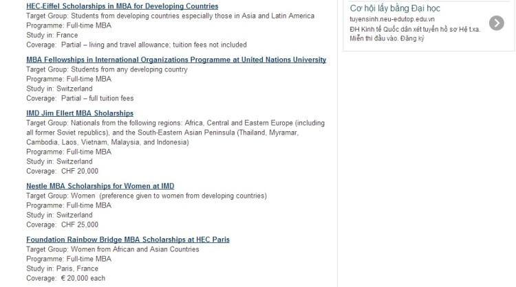 MBA scholarship 1