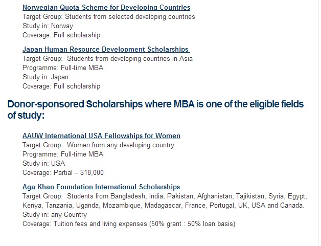 MBA scholarship 4
